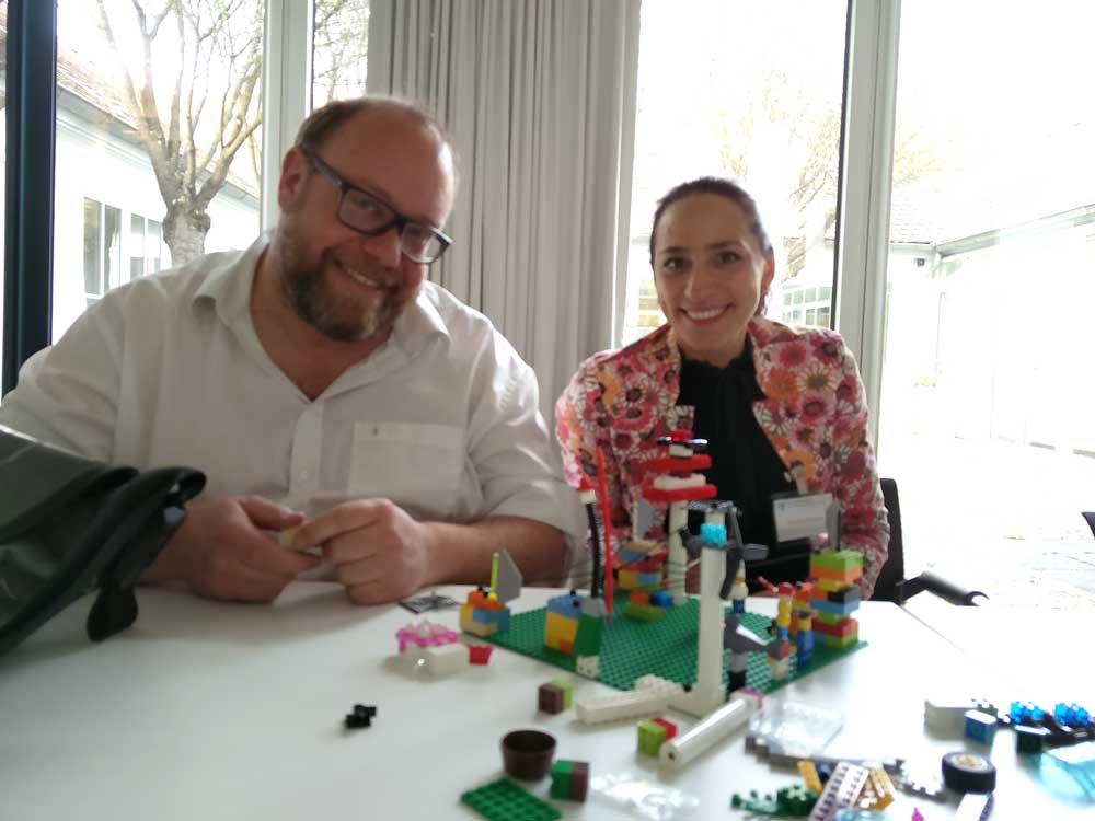 Eine Geschäftsidee made with Lego