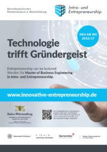 Masterstudium Intra- und Entrepreneurship Plakat DIN A3