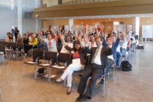 Die Teilnehmer am EBMC-Finale hatte sichtlich Spaß! (Quelle: Petra Rösch)